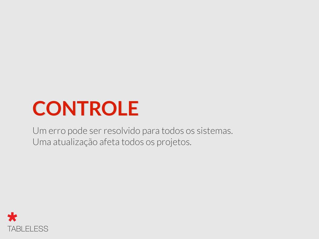 CONTROLE Um erro pode ser resolvido para todos ...