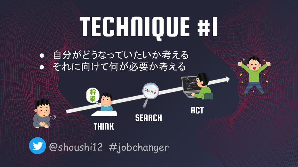 TECHNIQUE #1 @shoushi12 #jobchanger ● 自分がどうなってい...