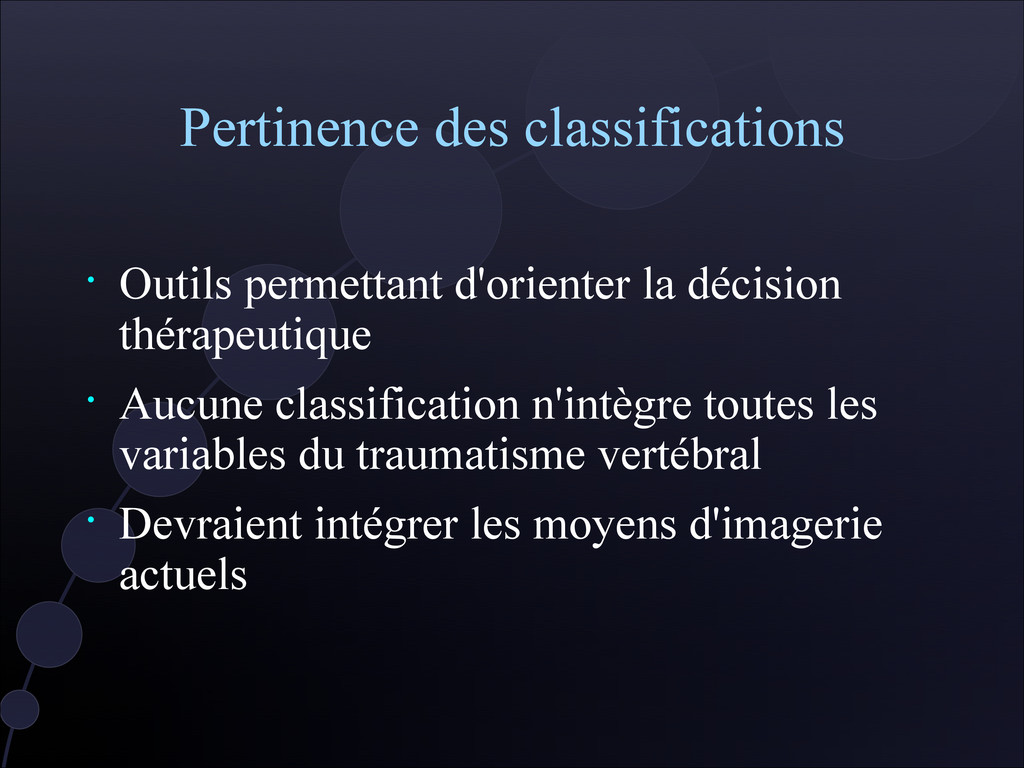 Pertinence des classifications • Outils permett...