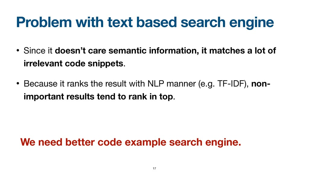 Problem with text based search engine • Since i...