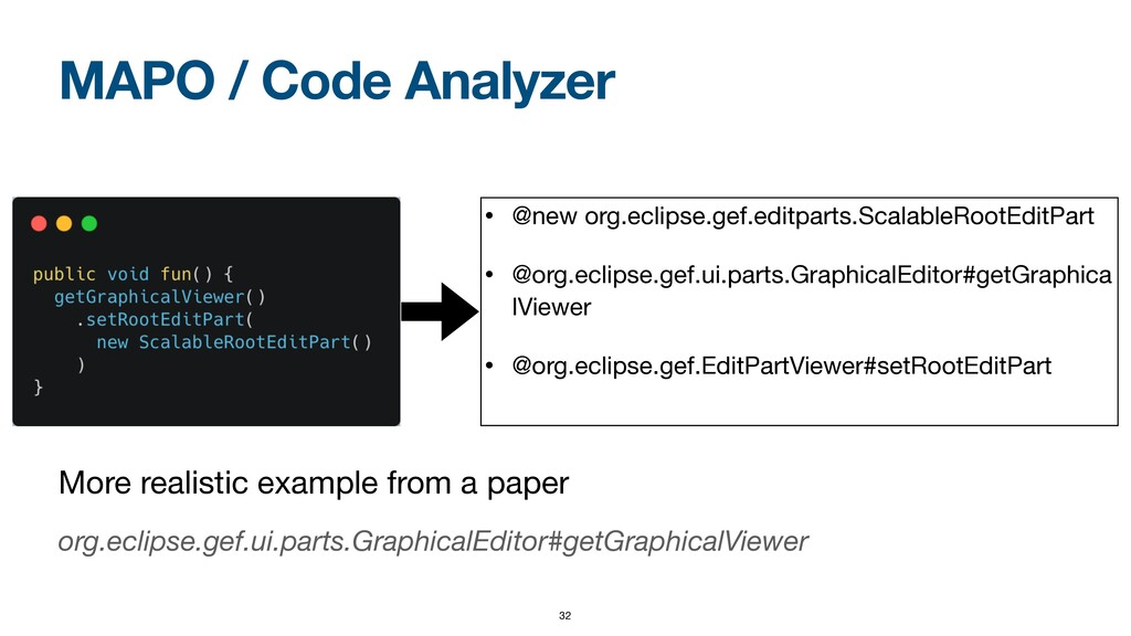 MAPO / Code Analyzer More realistic example fro...