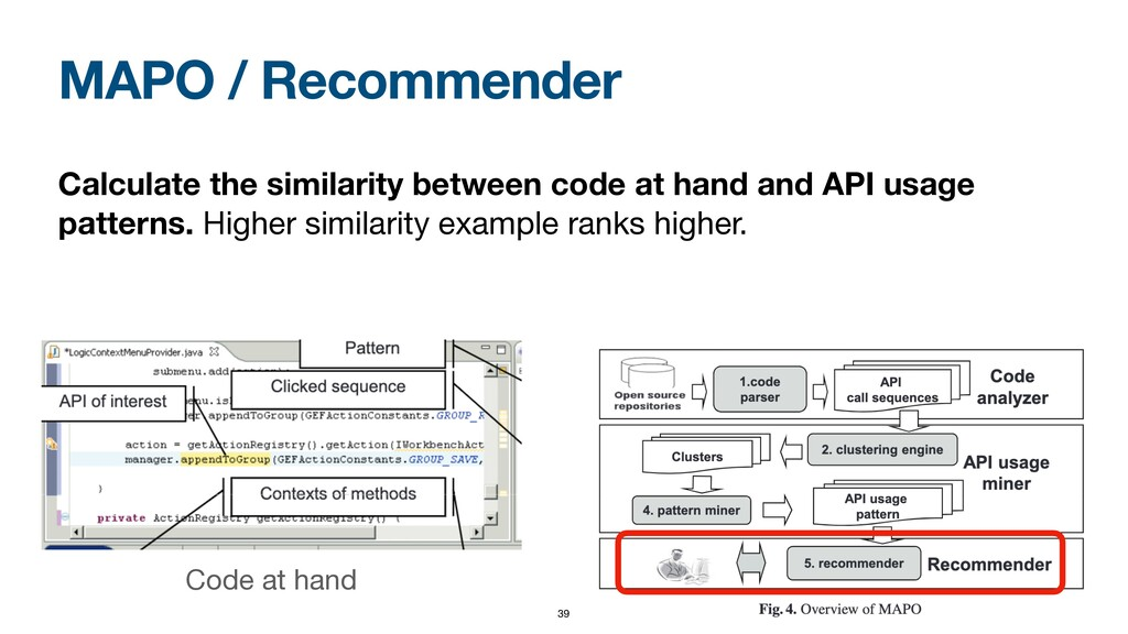 MAPO / Recommender Calculate the similarity bet...