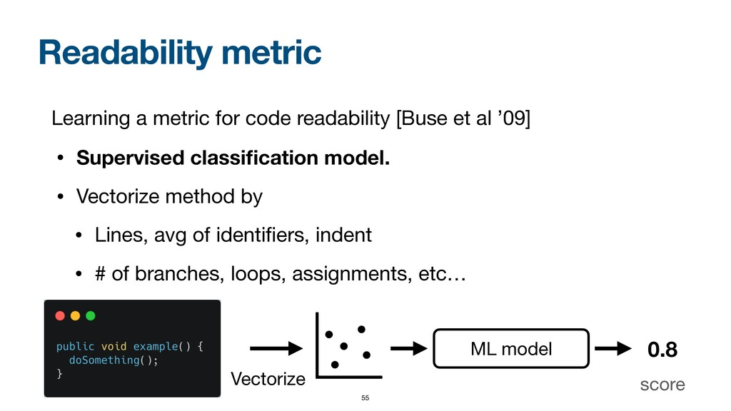 Readability metric Learning a metric for code r...