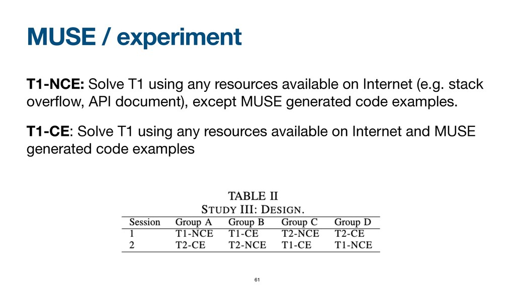 MUSE / experiment T1-NCE: Solve T1 using any re...