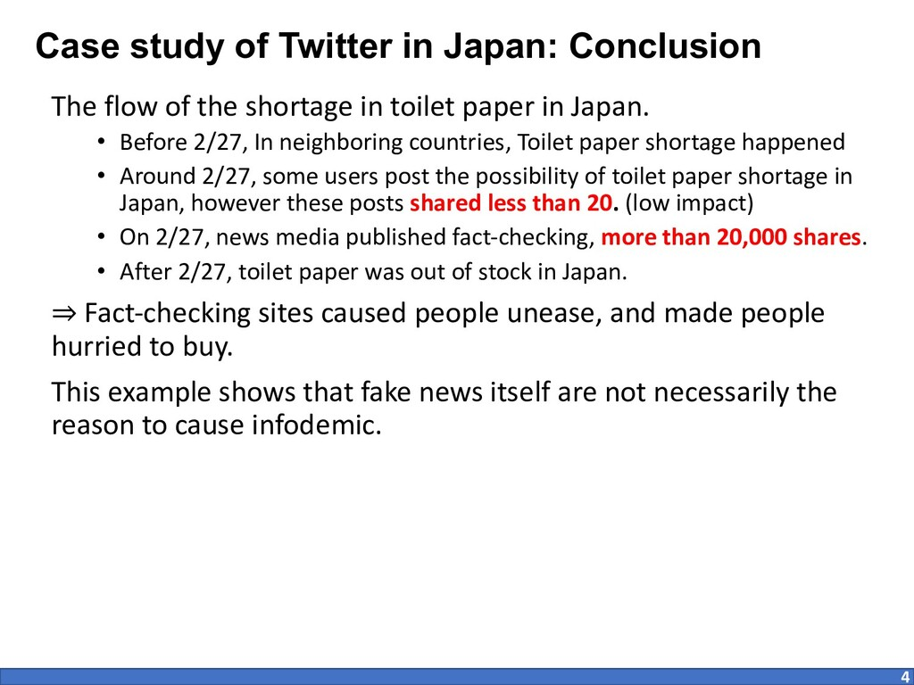 Case study of Twitter in Japan: Conclusion The ...