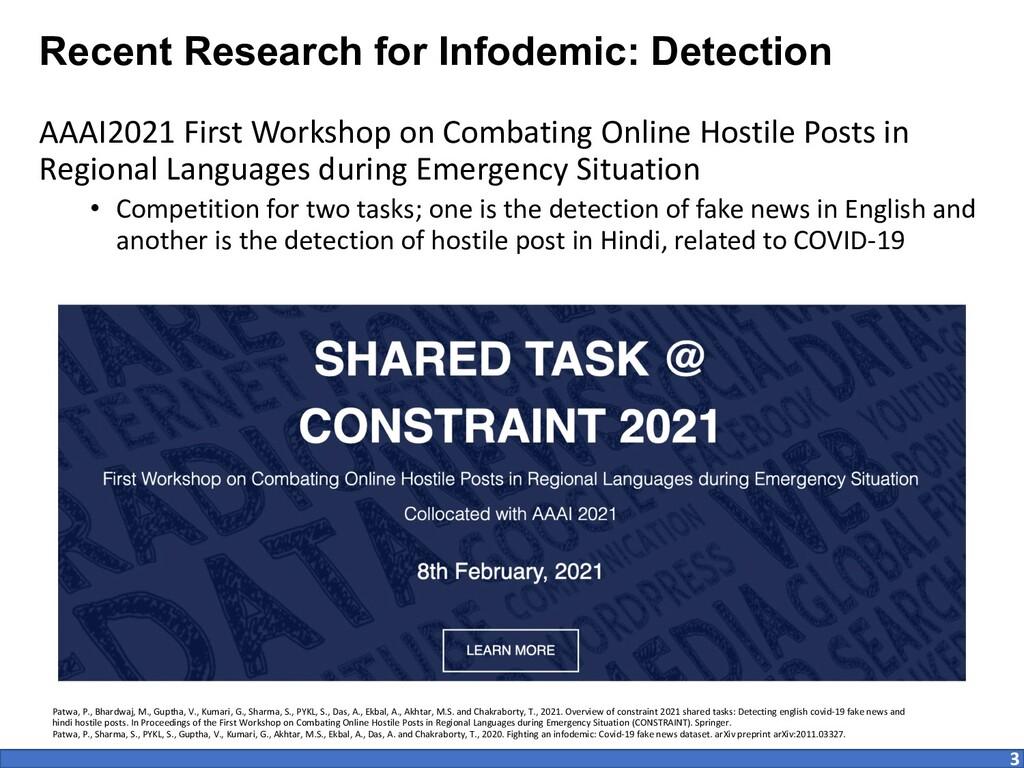 AAAI2021 First Workshop on Combating Online Hos...
