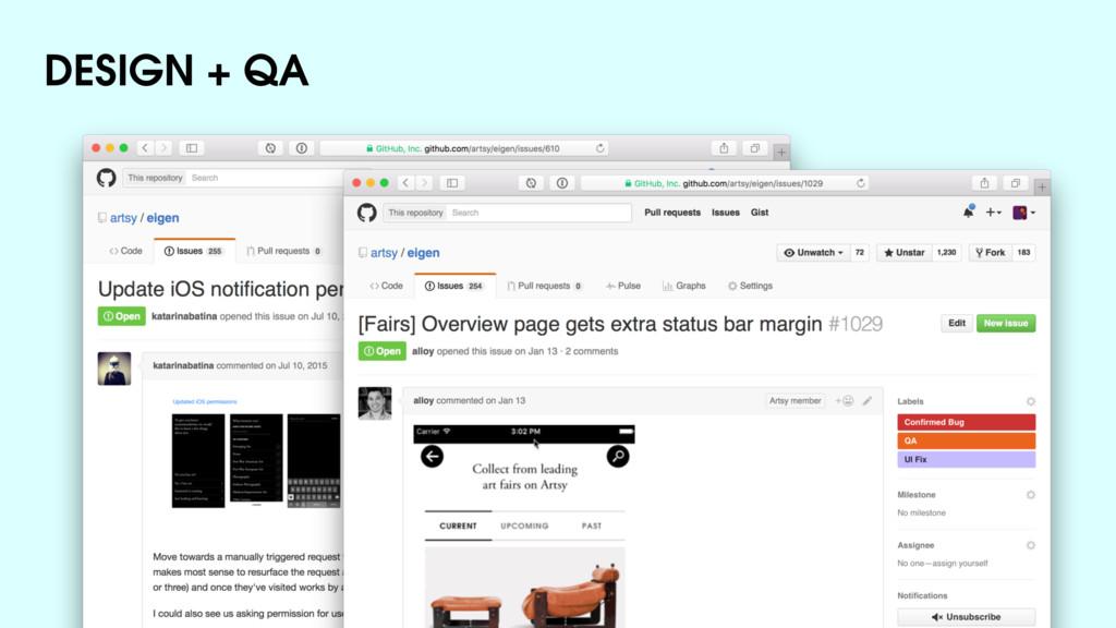 DESIGN + QA