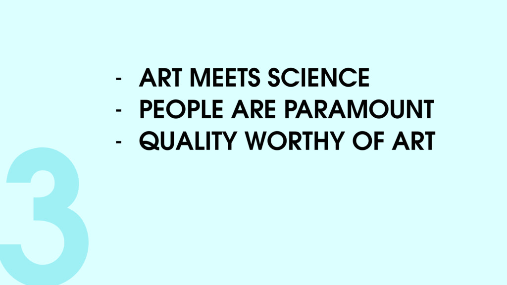 3- ART MEETS SCIENCE - PEOPLE ARE PARAMOUNT - Q...