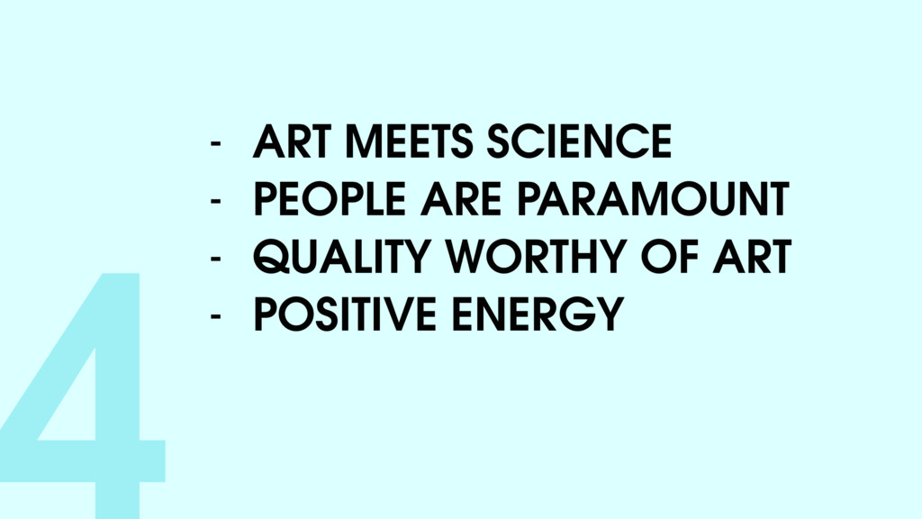4- ART MEETS SCIENCE - PEOPLE ARE PARAMOUNT - Q...