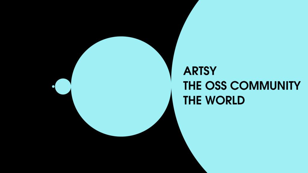 ARTSY THE OSS COMMUNITY THE WORLD