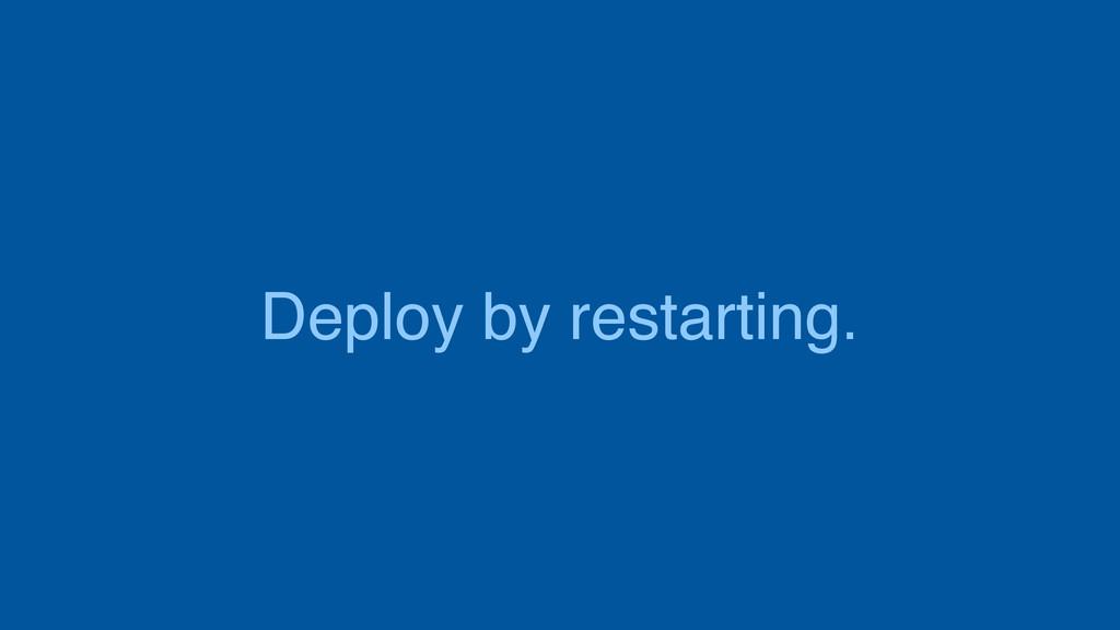 Deploy by restarting.
