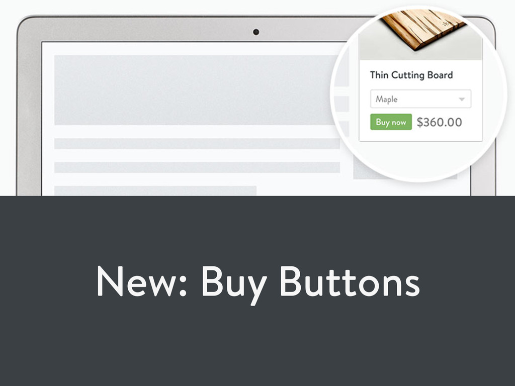 New: Buy Buttons