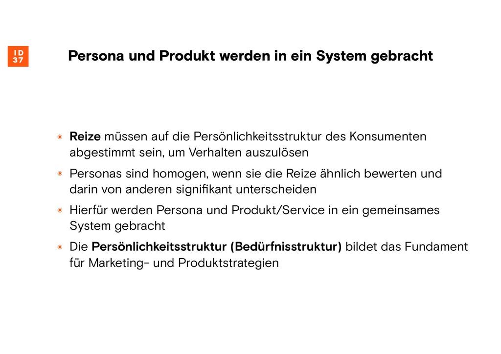Persona und Produkt werden in ein System gebrac...