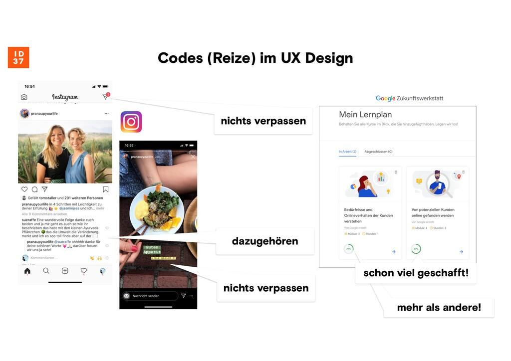 Codes (Reize) im UX Design dazugehören nichts v...