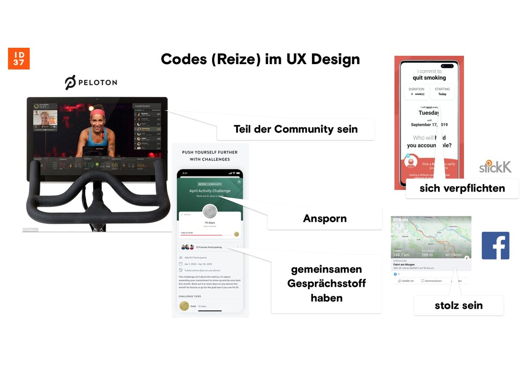 Codes (Reize) im UX Design Teil der Community s...