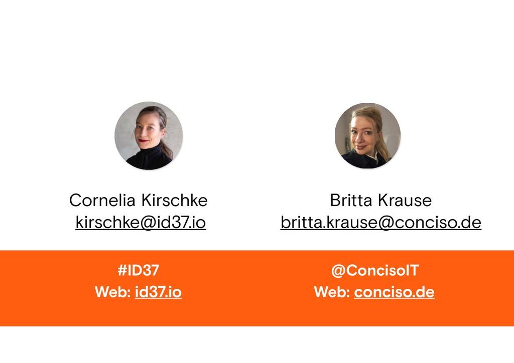 Web: id37.io #ID37 Cornelia Kirschke kirschke@i...