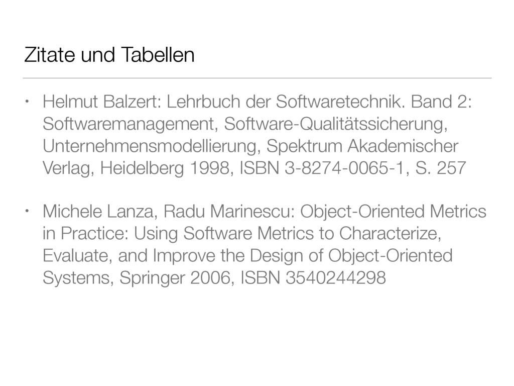 Zitate und Tabellen • Helmut Balzert: Lehrbuch ...