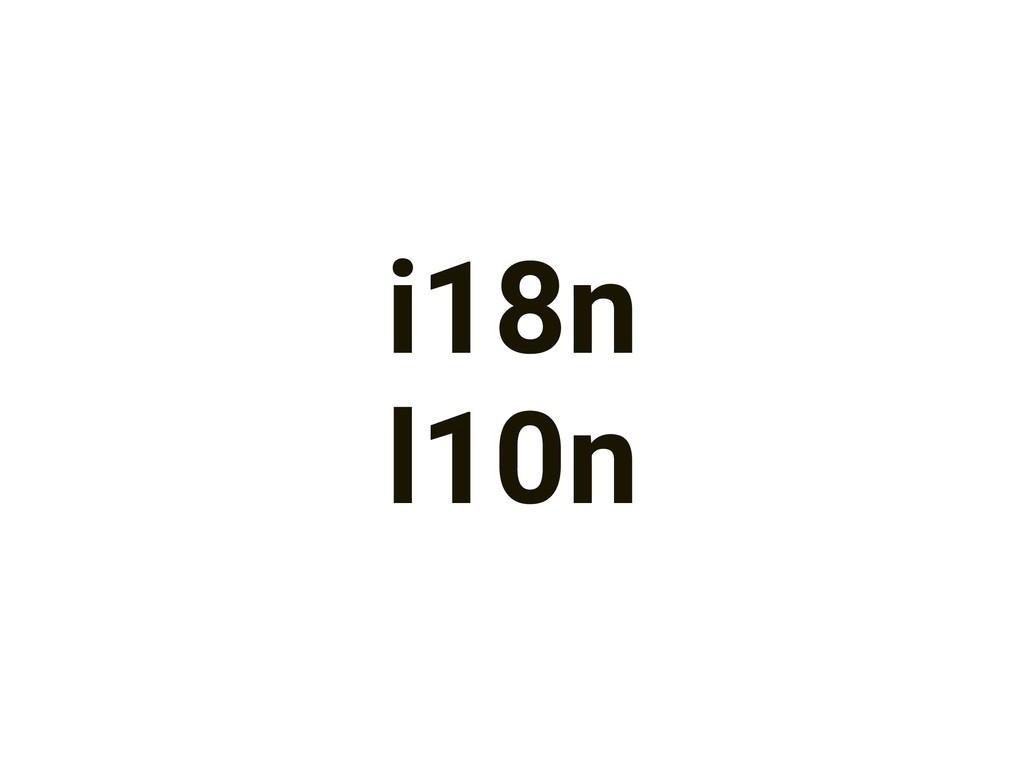 i18n l10n