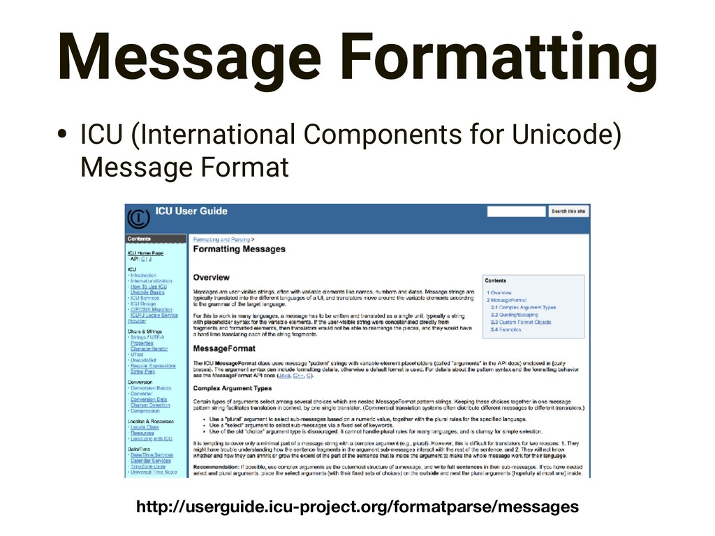 Message Formatting • ICU (International Compone...