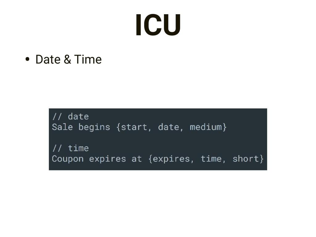 ICU • Date & Time