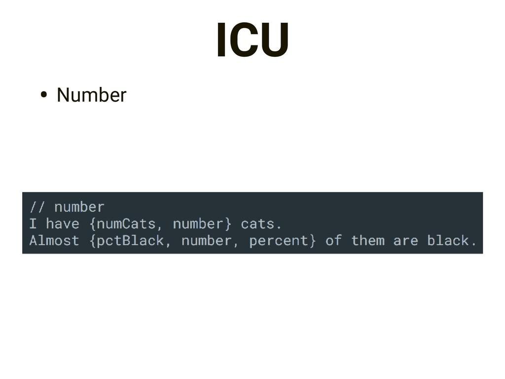 ICU • Number
