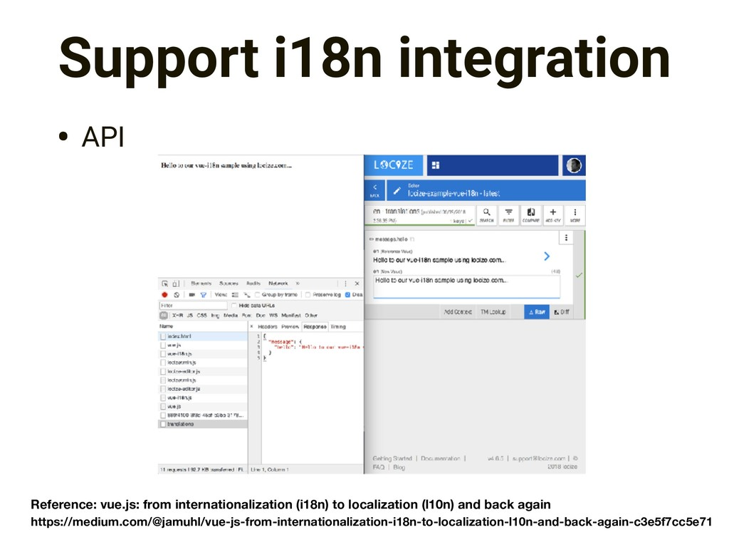 Support i18n integration • API https://medium.c...