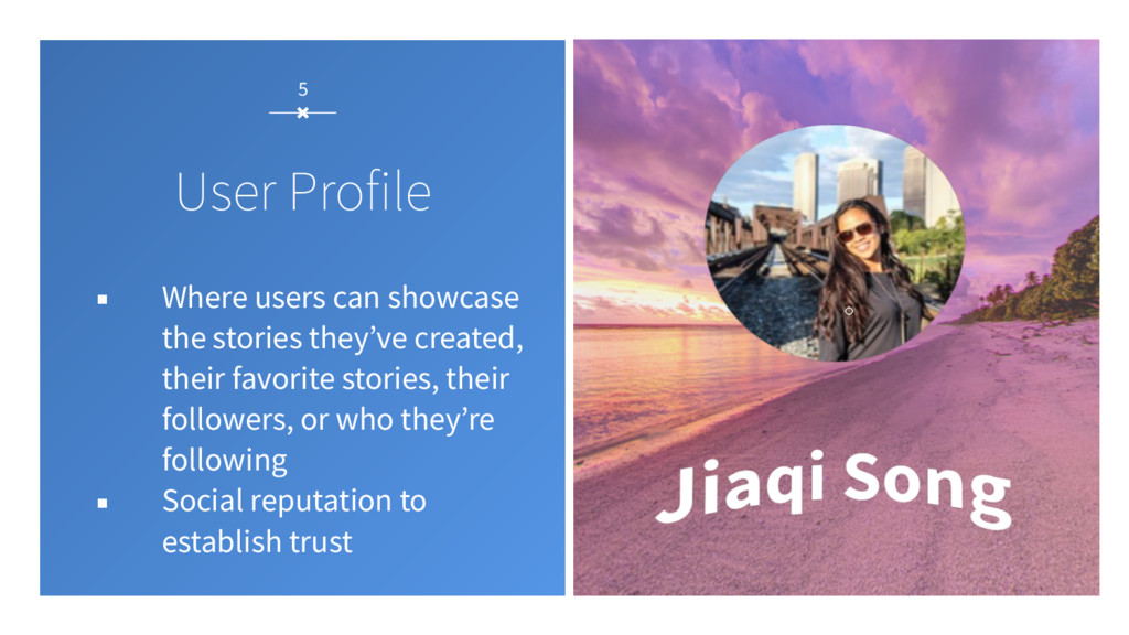 5 User Profile ▪ Where users can showcase the s...