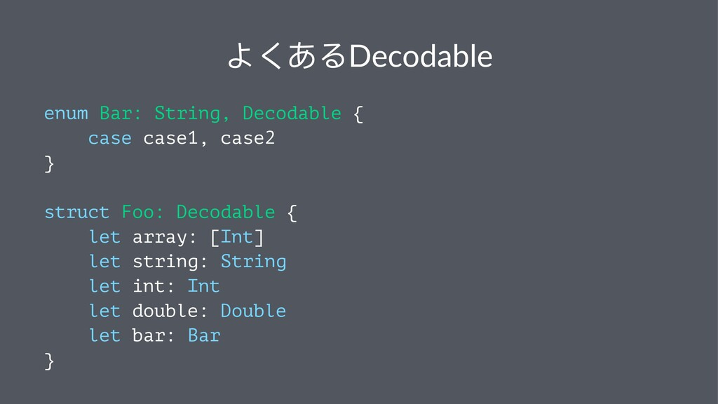 Ξͥ͘ΡDecodable enum Bar: String, Decodable { cas...