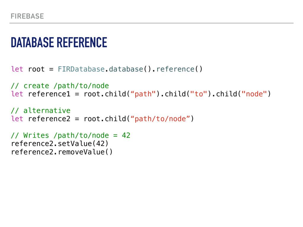 FIREBASE let root = FIRDatabase.database().refe...