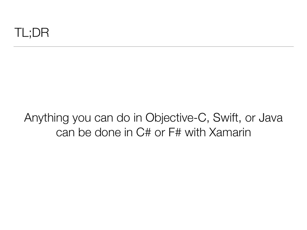 TL;DR Anything you can do in Objective-C, Swift...