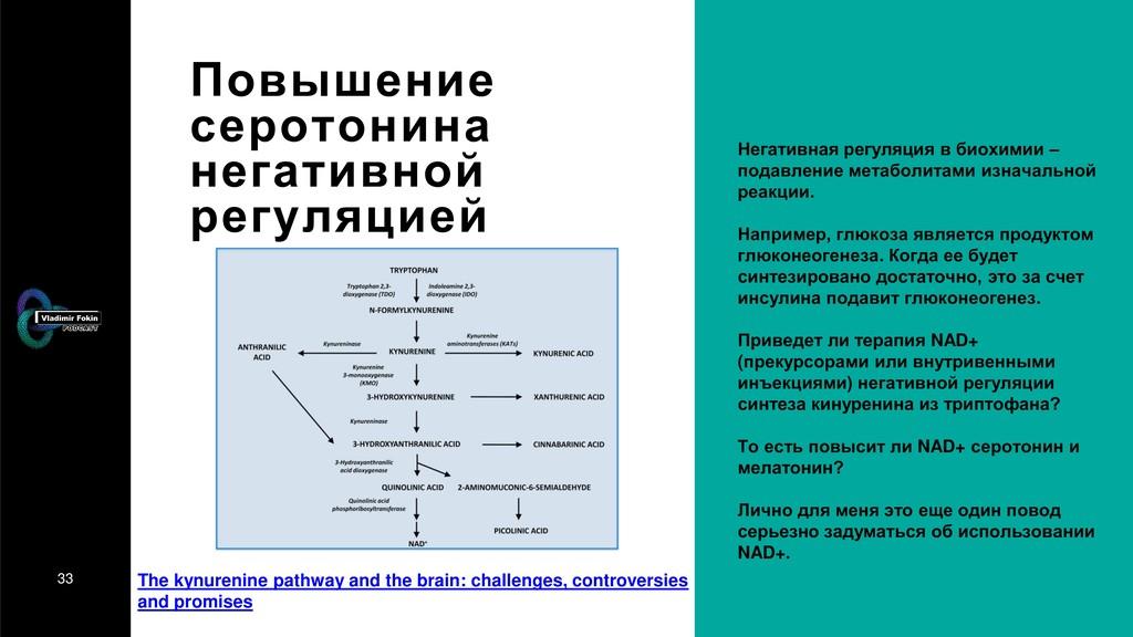 33 Повышение серотонина негативной регуляцией Н...