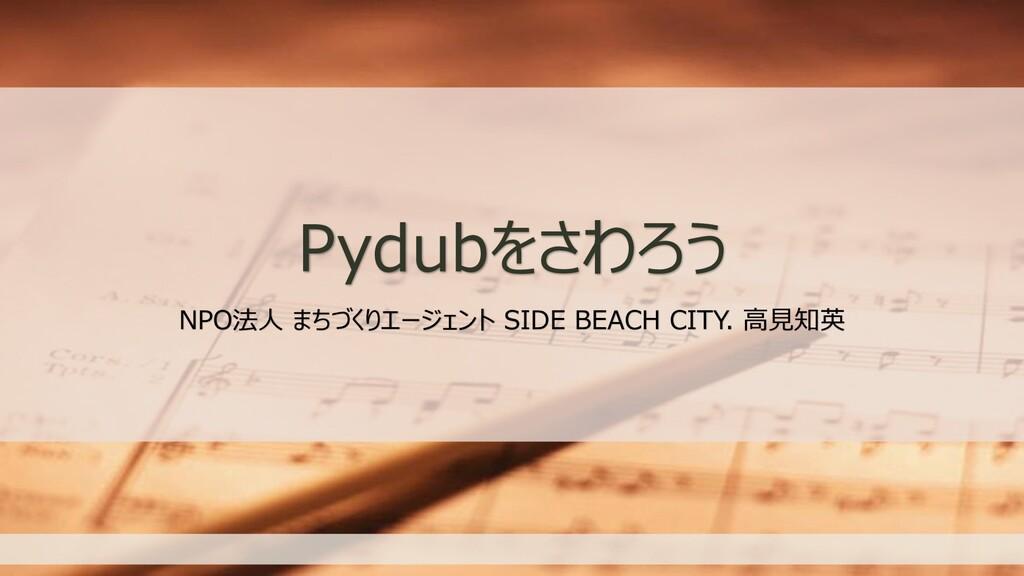 Pydubをさわろう NPO法人 まちづくりエージェント SIDE BEACH CITY. 高...