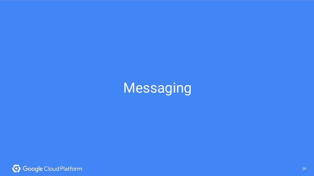 29 @saturnism @gcpcloud 29 Messaging