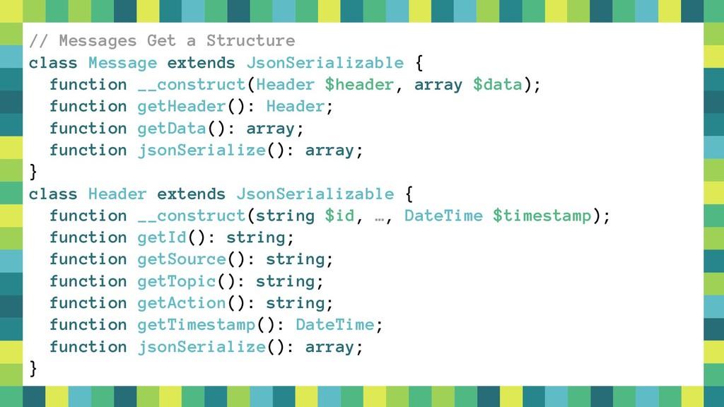 35 // Messages Get a Structure class Message ex...