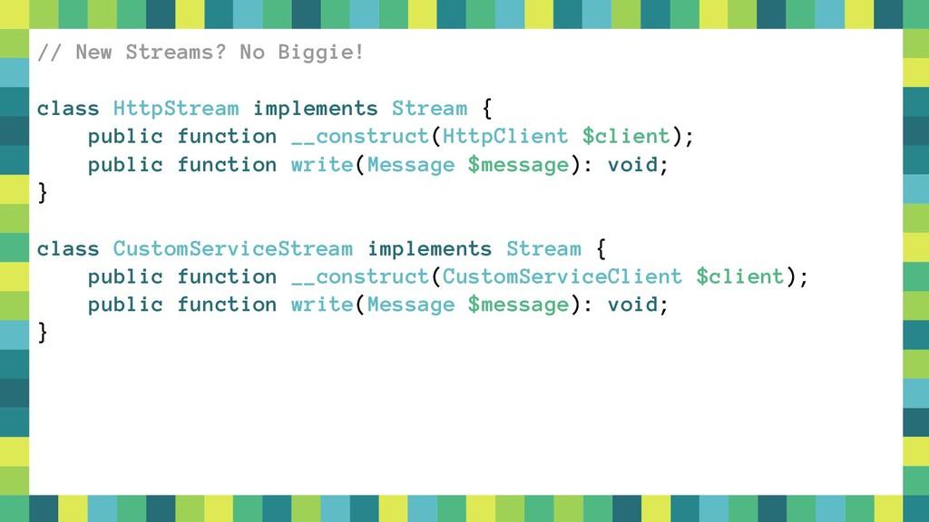 45 // New Streams? No Biggie! class HttpStream ...