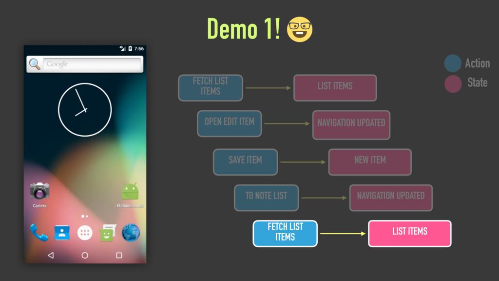 Demo 1! OPEN EDIT ITEM NAVIGATION UPDATED SAVE ...