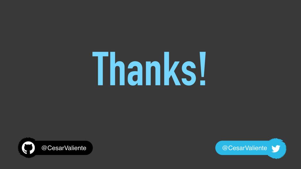 Thanks! @CesarValiente @CesarValiente