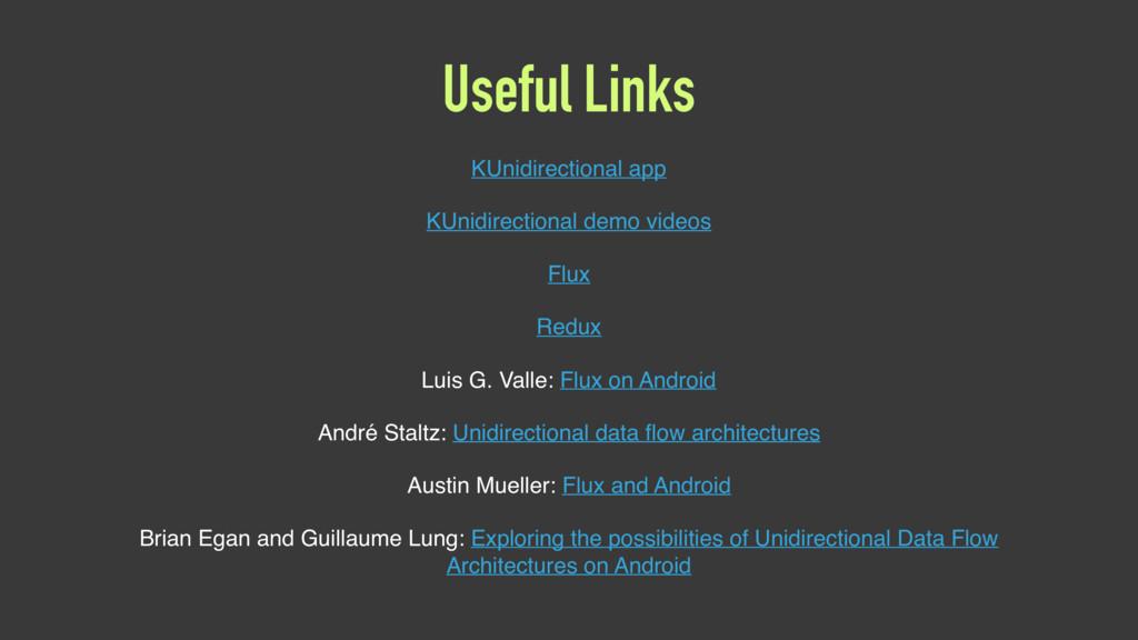Useful Links KUnidirectional app KUnidirectiona...