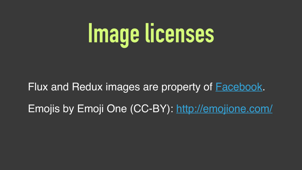 Image licenses Flux and Redux images are proper...