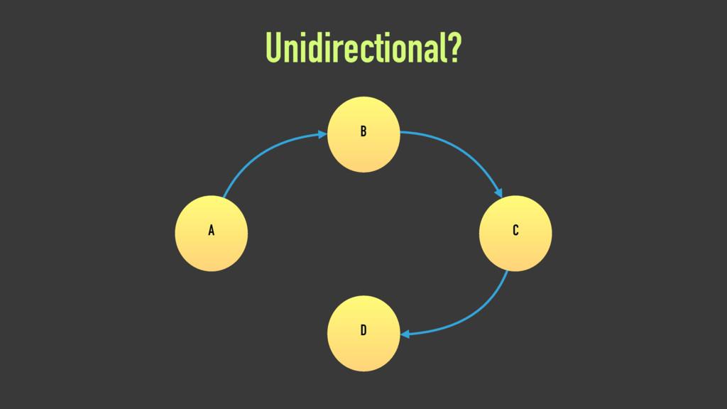 Unidirectional? A B C D