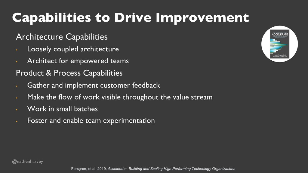 Capabilities to Drive Improvement Architecture ...