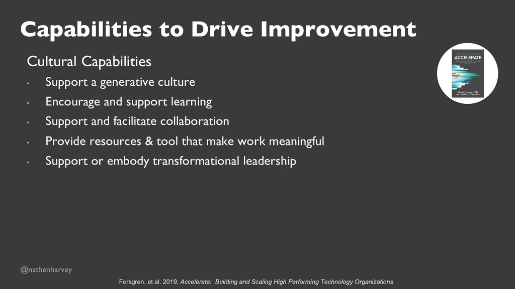 Capabilities to Drive Improvement Cultural Capa...