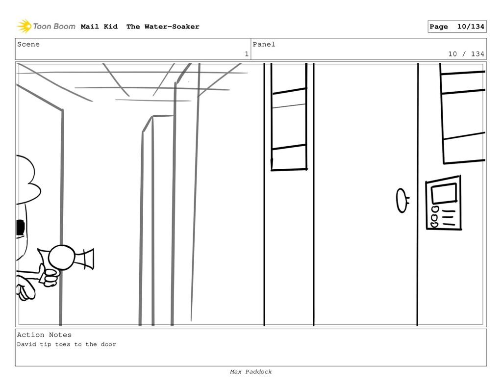 Scene 1 Panel 10 / 134 Action Notes David tip t...
