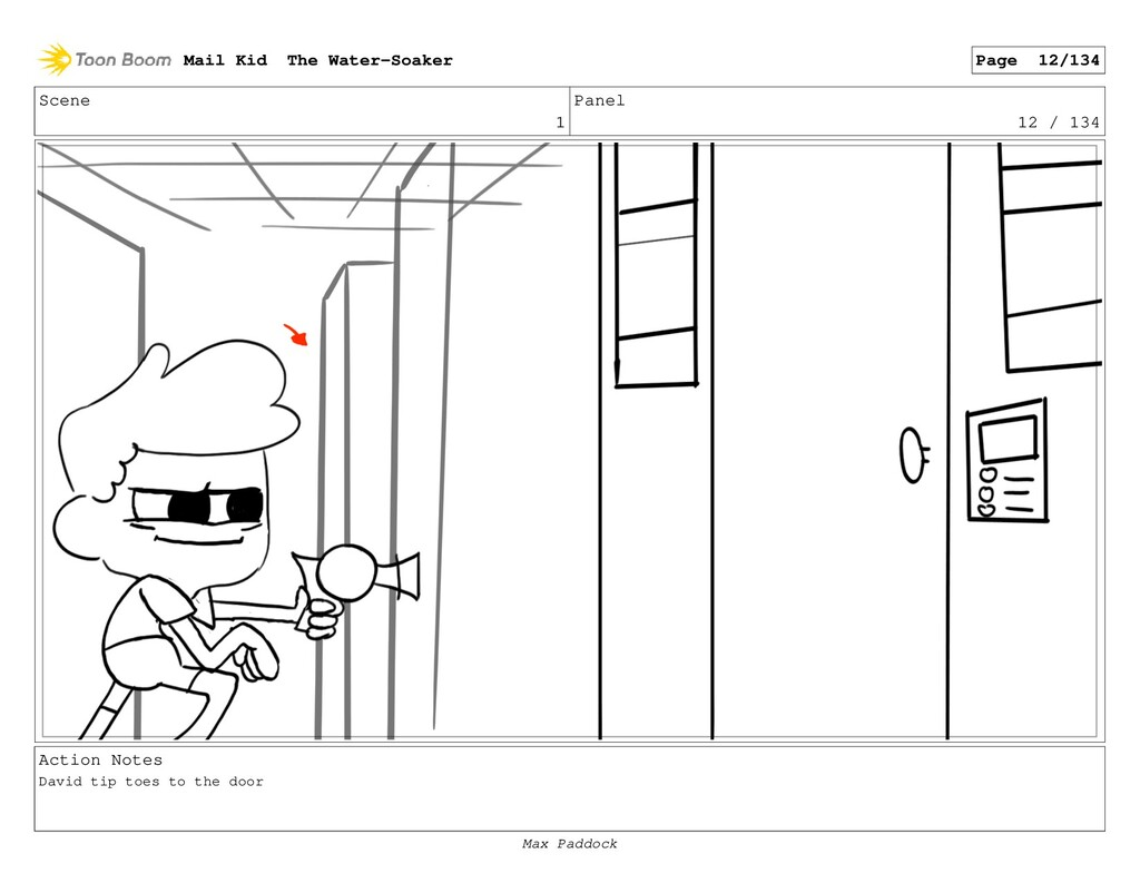 Scene 1 Panel 12 / 134 Action Notes David tip t...