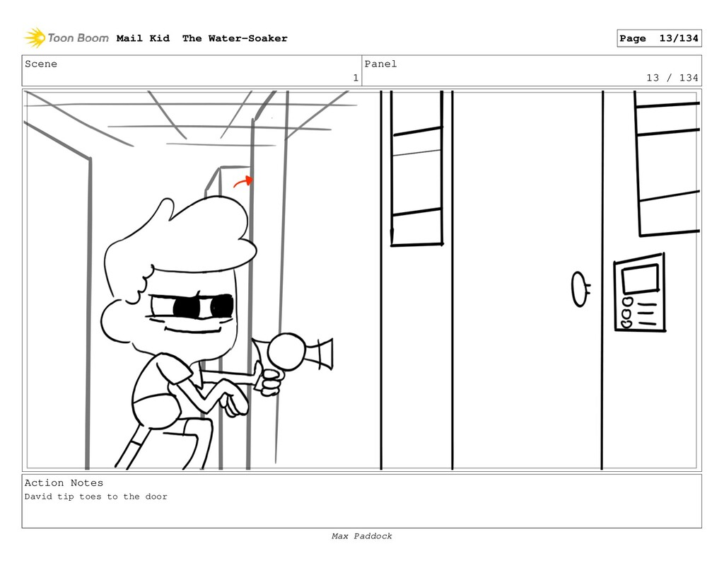 Scene 1 Panel 13 / 134 Action Notes David tip t...