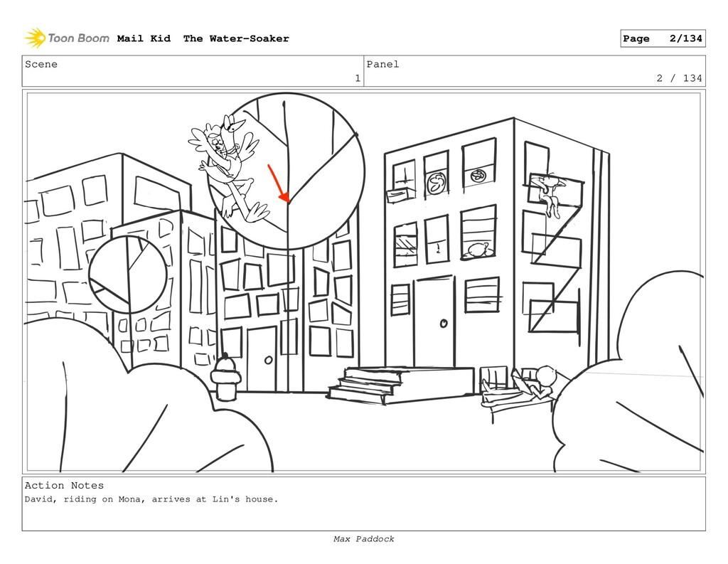 Scene 1 Panel 2 / 134 Action Notes David, ridin...