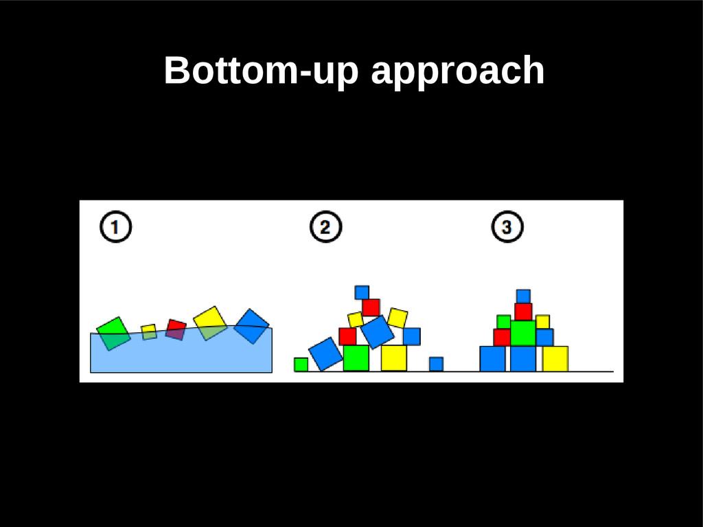 Bottom-up approach