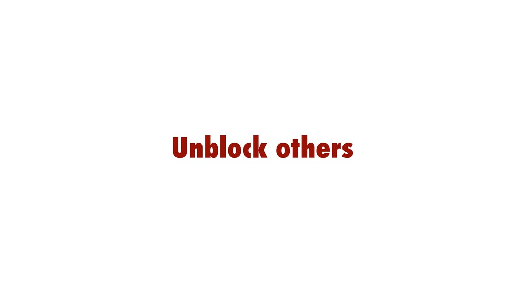 Unblock others