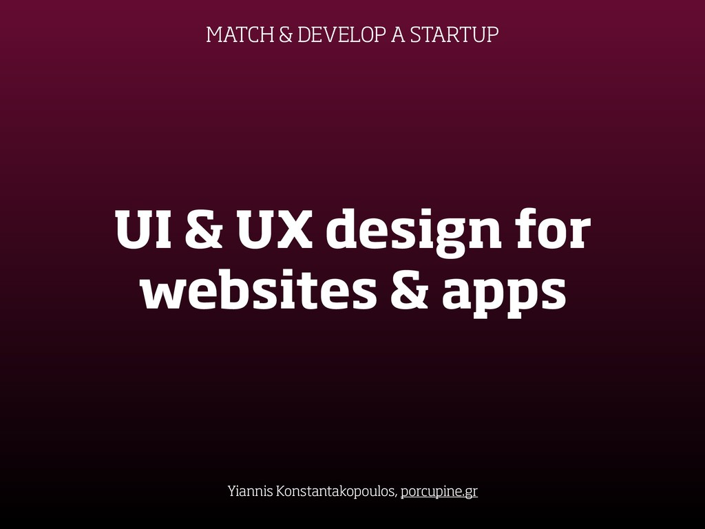 UI & UX design for websites & apps Yiannis Kons...
