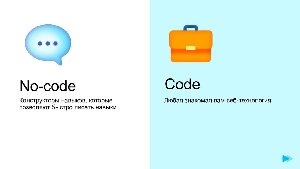 No-code Конструкторы навыков, которые позволяют...